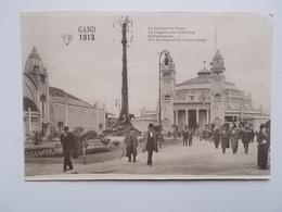 GENT- WERELDTENTOONSTELLING 1913 - Congoleesche Afdeling, Kolonialpalast, Pavillon Du Congo -ANIMATIE -  NO REPRO - Gent