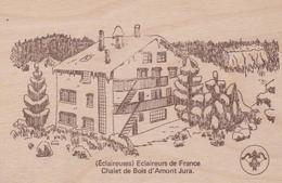 CPSM En BOIS - Eclaireurs De France / Chalet D' AMONT Jura - 2 Scans - - Scouting