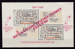 CSSR, 1980, 2589 Block 42, MNH **, Briefmarken-Messe ESSEN. - Blocs-feuillets