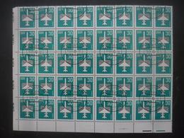 ALLEMAGNE DDR Poste Aérienne N°8 En Bloc De 40 Oblitéré - Collections (sans Albums)