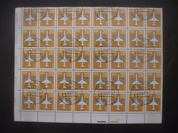 ALLEMAGNE DDR Poste Aérienne N°12 En Bloc De 40 Oblitéré - Collections (sans Albums)