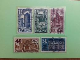 OCCUPAZIONI TEDESCHE - DANZICA - Soccorso Invernale 1936 - Nn. 221/25 Timbrati + Spese Postali - Germania