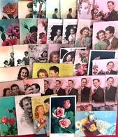 """Lot De 70 CP - Theme """"Hommes,Femme, Couples, Enfants, Etc."""" Non écrites Sur Papier Glace - Postcards"""