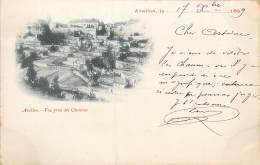 CARTE PRECURSEUR TIMBREE TYPE SAGE 1899 AVALLON VUE PRISE DES CHAUMES - Avallon
