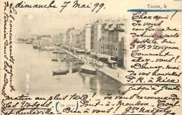 CARTE PRECURSEUR TIMBREE TYPE SAGE 1899 TOULON LE QUAI - Toulon