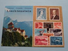 LIECHTENSTEIN Fürstentum Castle Of Vaduz With Falknis ( Zie Foto's ) ! - Timbres (représentations)
