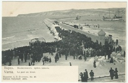 Bulgaria 1906 Varna Seaport Quay In Winter - Bulgaria