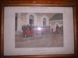 ARMEE D' AFRIQUE - Infanterie Cavalerie - POSTE DE POLICE DES ZOUAVES (Typogravure Boussod , Valadon & Cie) - Engravings