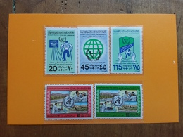 LIBIA 1981 Anno Dei Disabili E Del Malato - 2 Serie Nuove ** + Spese Postali - Libia