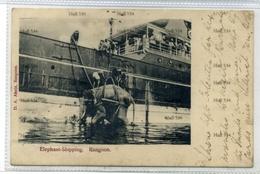 Myanmar Burma DA AHuja Elephant Shipping Rangoon Undivided Back Postcard BISNC British India Line Ship - Myanmar (Burma)