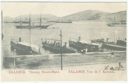 Greece 1910 Salamina Seaport - Greece