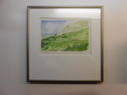 """Aquarell Schweiz """"Alpsegen"""" GR - 270,00 € (BAR/100% WIR) - Watercolours"""