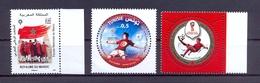 Tunisia/Tunisie 2018 - Stamps - Joint Issue Tunisia/Oman & Morocco - FIFA Football  World Cup - Russia - MNH** - Tunisia