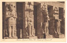 POSTAL     THEBES - EGIPTO  - MEDINET HABU-THE TEMPLE OF RAMSES III - Luxor