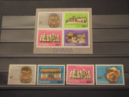 GHANA - 1971 ARCHEOLOGIA 4 Valori + BF - NUOVI(++) - Ghana (1957-...)