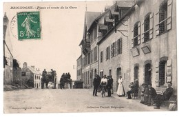 BRIGNOGAN Place Et Route De La Gare Ed. Vasselier Pas ND - Brignogan-Plage