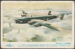 Royal Air Force Handley Page Halifax Bomber, C.1950s - Salmon Postcard - 1939-1945: 2nd War