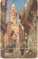 POSTAL    EL CAIRO  -EGIPTO  - CALLE DEL CAIRO  (RUE AU CAIRE) - El Cairo