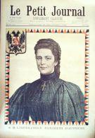 LE PETIT JOURNAL-1898-410-ASSASSINAT IMPERATRICE ELISABETH D'AUTRICHE - Zeitungen
