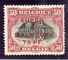 EUPEN & MALMEDY 1920 75 Pf. On 50 C.  LHM / *.  Michel 6A - Occupation 1914-18