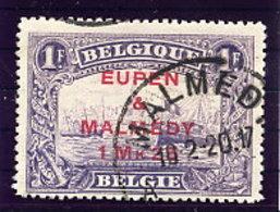 EUPEN & MALMEDY 1920 1.25 Mk. On 1 Fr.  Used.  Michel 7A - Occupation 1914-18