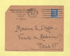Frankers Secap - Paris VIII - 5 Lignes Droites + Trait Parasite - 1947 - Postmark Collection (Covers)