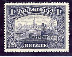 EUPEN  1920 1 Fr.  LHM / *.  Michel 11 - Occupation 1914-18