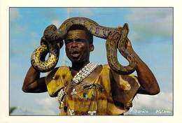 Afrique-CÔTE D'IVOIRE Charmeur De Serpents TOUEU Bernard De BIN HOUYE   (-MAURICE ASCANI 37) *PRIX FIXE - Ivory Coast