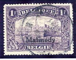 MALMEDY  1920 1 Fr.  USED.  Michel 11 - Occupation 1914-18