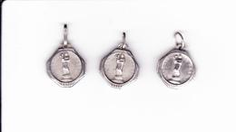 3 Medailles Religieuses Argent - Notre Dame Du Puy En Velay - Pendentifs