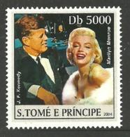 ST THOMAS & PRINCE 2004 CELEBRITIES MONROE SINGLE MNH - Sao Tome And Principe