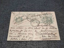PORTUGAL STATIONERY CARD DEZ REIS CIRCULATED PAREDE - FERREIRA DO ZEZERE REGISTERED 1909 - Entiers Postaux
