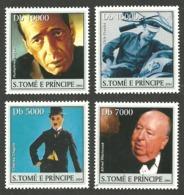 ST THOMAS & PRINCE 2004 CELEBRITIES FILMS CINEMA BRANDO CHAPLIN SET MNH - Sao Tome And Principe