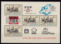 CSSR, 1981, 2602 Block 44, MNH **, WIPA 1981, Wien. - Blocs-feuillets