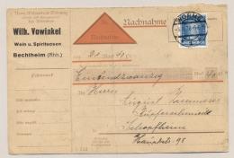 Deutsches Reich - 1928 - 25 Pf Beruhmte Deutsche On Nachnahme Karte - Worms - Duitsland