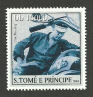 ST THOMAS & PRINCE 2004 CELEBRITIES FILMS CINEMA BRANDO MOTORBIKE SINGLE MNH - Sao Tome And Principe