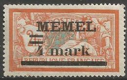Memel (Klaipeda) - 1920 Merson Overprint  4m/2f MLH *   Mi 31  Sc 31 - Memel (1920-1924)