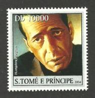 ST THOMAS & PRINCE 2004 CELEBRITIES FILMS CINEMA BOGART SINGLE MNH - Sao Tome And Principe