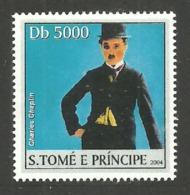 ST THOMAS & PRINCE 2004 CELEBRITIES FILMS CINEMA CHAPLIN SINGLE MNH - Sao Tome And Principe