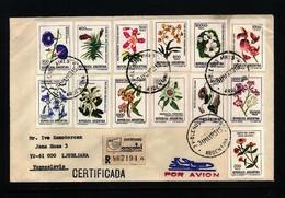 Argentina 1983 Interesting Airmail Registered Letter - Argentinien