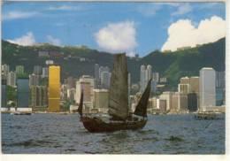 HONGKONG  CHINESE JUNK SAILING AT THE VICTORIA HARBOUR  1986 NICE STAMP - Chine (Hong Kong)
