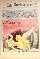 LA CARICATURE-1885-272-MEMOIRES D'une REINE-ILLUSTRE : ROBIDA, - Books, Magazines, Comics