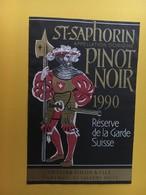 8732 - Pinot Noir 1990 St-Saphorin Suisse Réserve De La Garde Suisse Au Vatican - Militaire