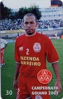 TARJETA TELEFONICA DE BRASIL (FUTBOL, CAMPEONATO GOIANO 2001, BAIANO LATERAL DIREITO, 3/10, 05/2001). (504) - Brasil