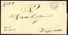 BRAUNSCHWEIG 1843, BRIEF MIT K1 VORSFELDE, DATUM HANDSCHRIFTLICH, SELTEN - Allemagne