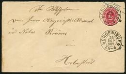 BRAUNSCHWEIG 1867, GS U7, 1 Gr. STPL-K2 SCHOENINGEN, ZENTRISCH, TOPP! - Brunswick