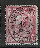 46  Obl  Belgique Postes Militaires 1  + 30   Coin Rond - 1884-1891 Leopold II.