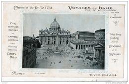 CHEMIN DE FER DE L'EST . VOYAGES EN ITALIE PAR LE LOTSCHBERG OU PAR LE SAINT-GOTHARD - Ref. N°48F - - Roadmaps