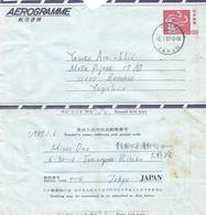 Japan 1987 Tokyo Oji Dove Pigeon Bird Aerogramme - Aerogramas