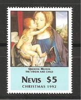 NEVIS - 1992 QUENTIN METSYS Madonna Con Bambino (Louvre, Parigi) Nuovo** MNH - Madonnen